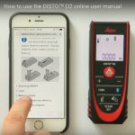 How to use the Leica DISTO D2 BT online user manual