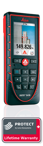 DISTO D410. with Leica Protect Lifetime Warranty. Next day delivery.