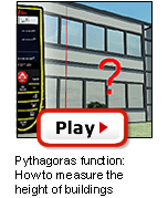 D5 Pythagoras function: How to measure the height of buildings