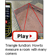 D5 Triangle function: How to measure a room with many corners