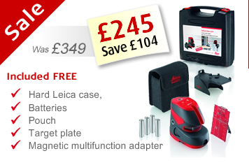 Free with your Lino L2P5 - Leica case, batteries, adapter and target plate included