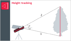 Leica DISTO X4 - Height tracking function