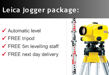 Free Leica Tripod and Staff with the Leica Runner