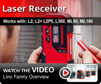 Leica RVL100 Laser Receiver - works with L2, L2+, L2P5, L360, ML90, ML180